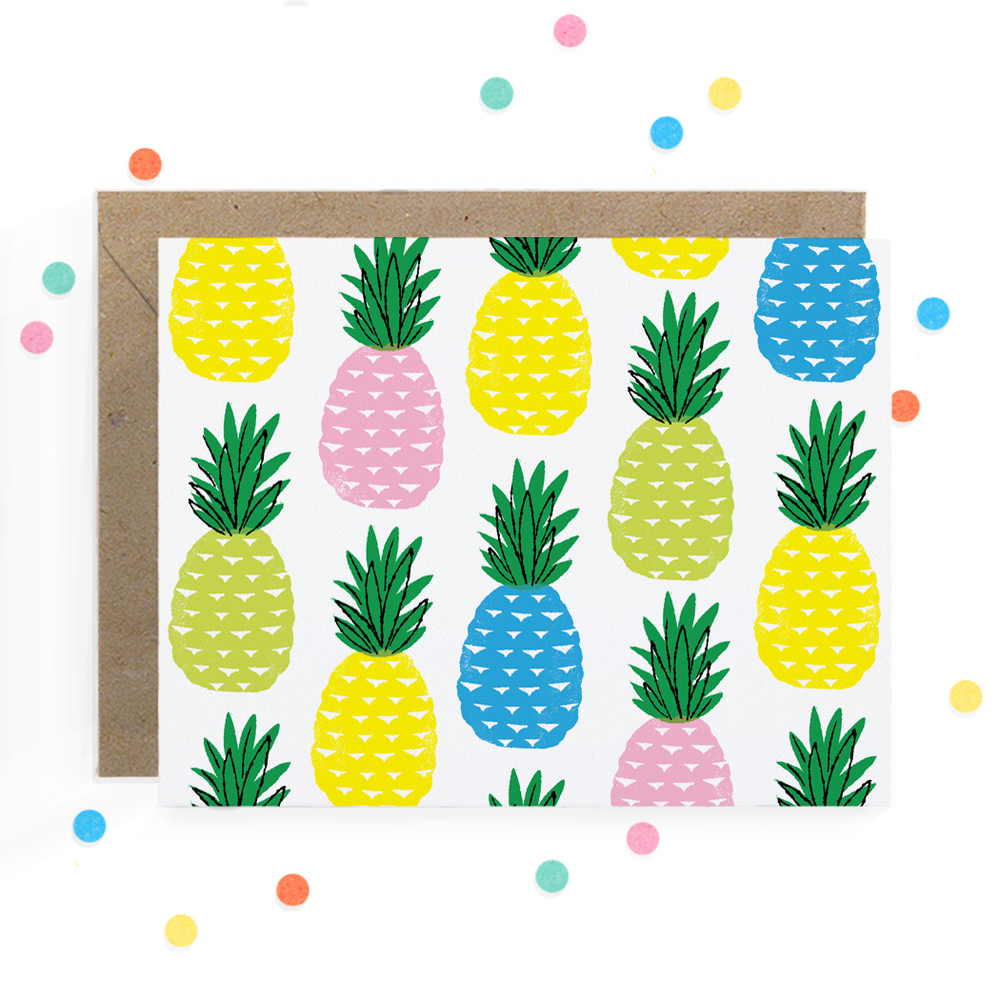 Pineapples Greeting Card 1.jpg