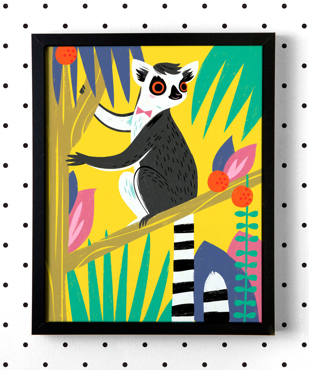 Lemur-Art-Print-Framed_square.jpg