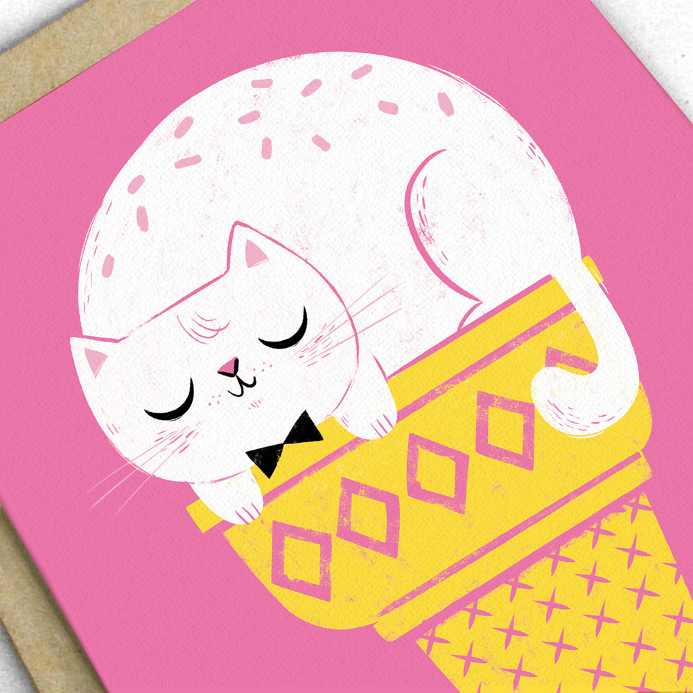 Kitty Summer Ice Cream Greeting Card 2.jpg