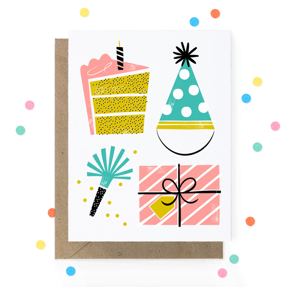 Birthday Card Cake Present Hat Noise Maker 1.jpg