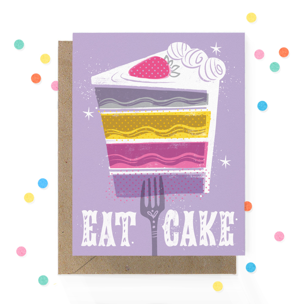 Eat Cake Greeting Card 1.jpg