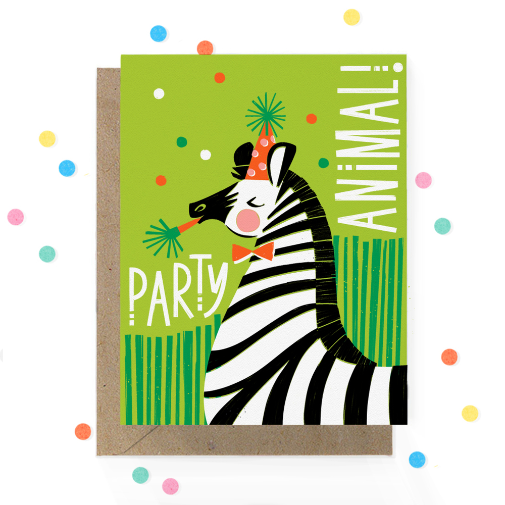 Party Animal Zebra Birthday Card 1.jpg
