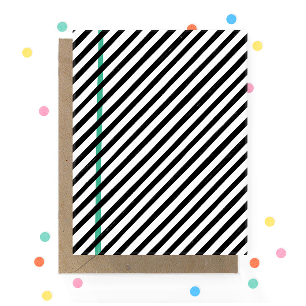 Black and White Stripe Greeting Card 1.jpg