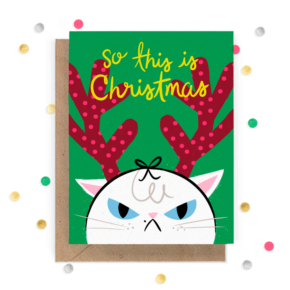 Angry Cat Christmas Greeting Card 1.jpg