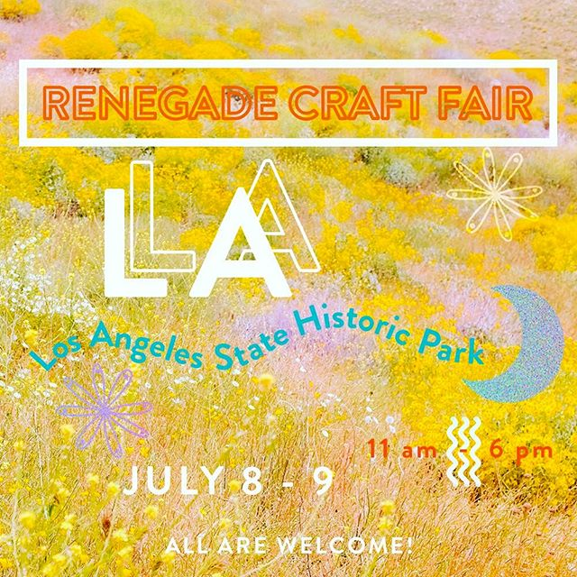 Hey LA! In a month we are headed to California for Renegade Craft Fair in Los Angeles State Historic Park! See you there🌈🌞 @renegadecraft . . . . #luaskincare #naturalbeauty #naturalskincare #rcf #renegadecraftfair #handcrafted #plantbased #vegan #la #greenbeauty