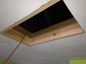 Rough opening for attic hatch