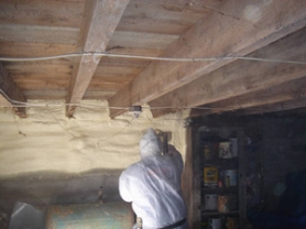 foundation wall insulation - closed cell spray foam