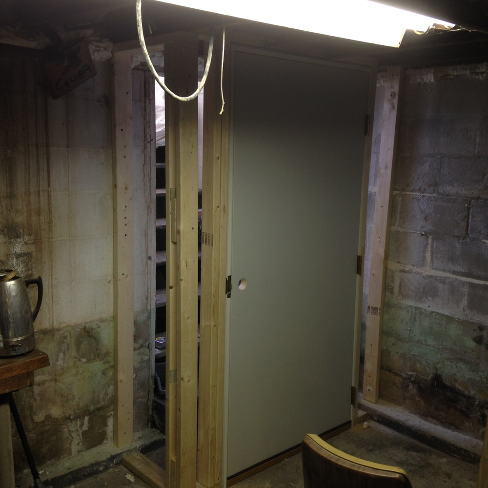 Basement Door Install