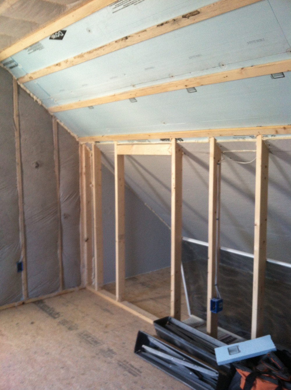 Attic Finishing - Prep for Drywall - Super Insulated