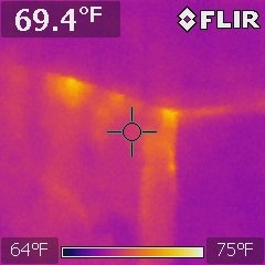 Thermal Photo - Interior Wall Top Plate