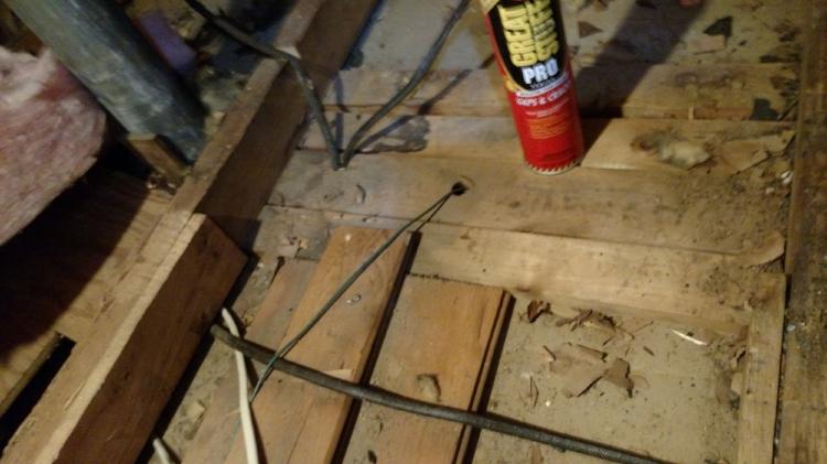 Fiberglass Insulation Removed