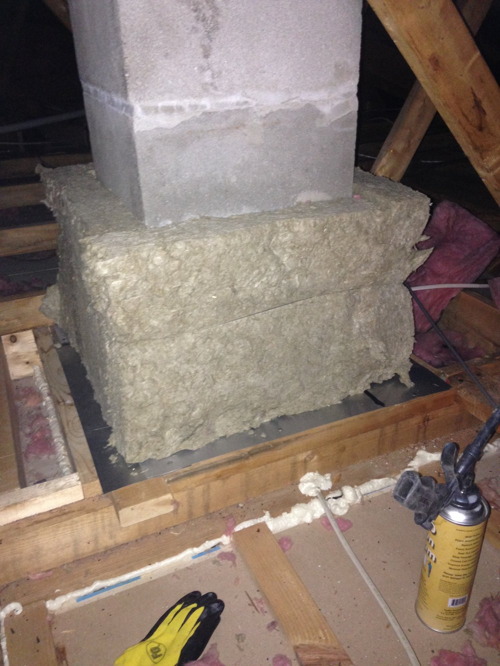 Chimney Chase - Air Sealed & Insulated