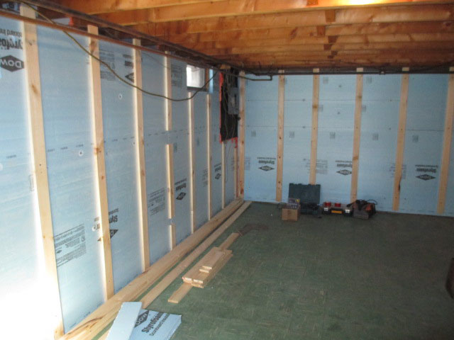Basement - rigid board insulation
