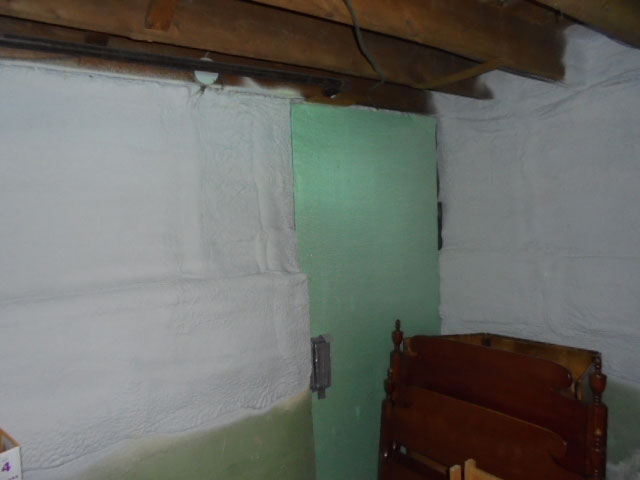 Basement - Closed cell spray foam
