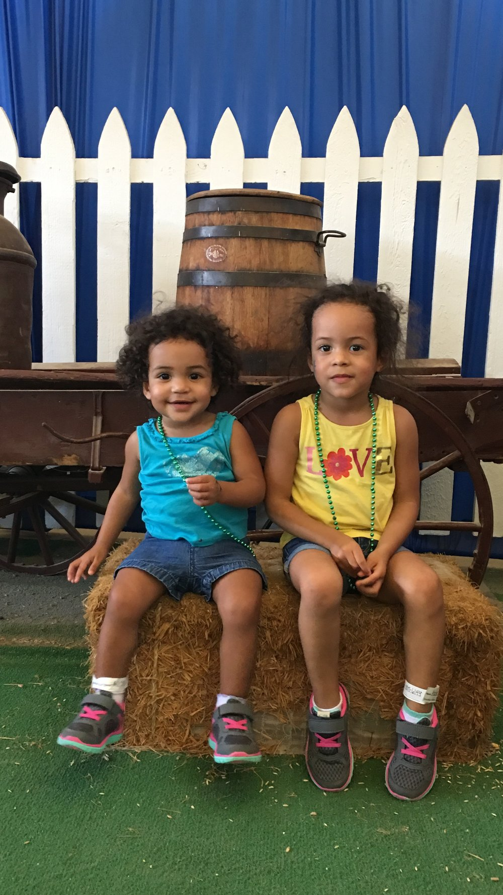 Kate (19 months) & Adde (3 years old) at the Texas State Fair!