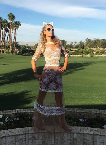 Makeup - Paris Hilton - 2016 Coachella