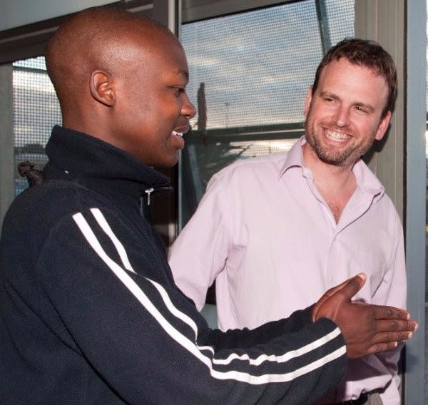 Jordan Levy (right) with Ubuntu Scholar & Alumni, Nkosinathi Mbali