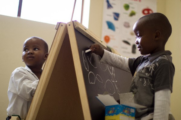 Toddlers in Ubuntu's Early Childhood Development Program