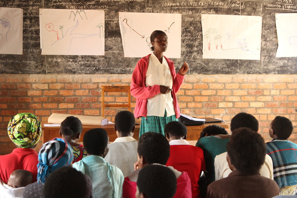 Resonate Public Speaking - a woman shares her leadership story with the group after three days of training (photo credit: Resonate)