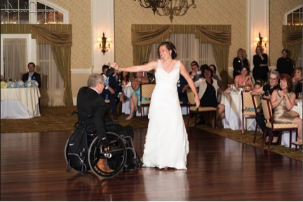 Paralyzed dad dances for first time in 17 years