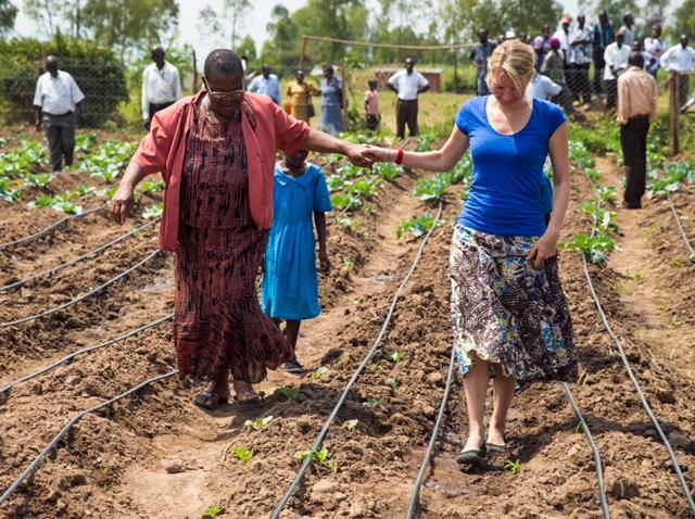 Nyla with Anastasia Juma Sinawa at Our Lady of Perpetual Support (OLPS),Kisumu, Kenya