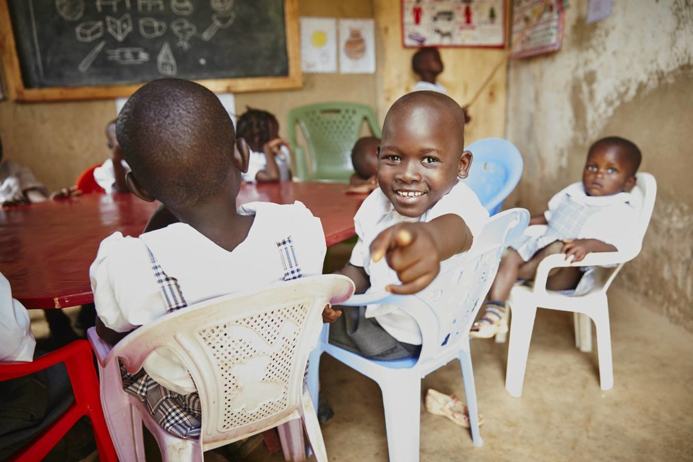 Students at the school of the Kisumu Children's Rescue Center