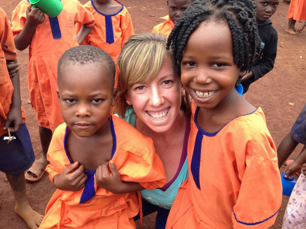 Brooke Stern, Co-Founder & CEO of S.O.U.L. Foundation, with students from their Preschool Program