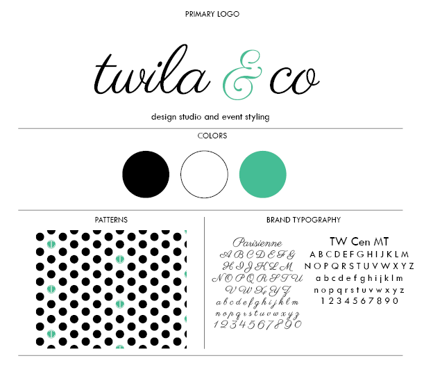 Brand Sheet Twila and Co