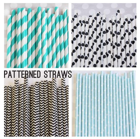 pattern straws