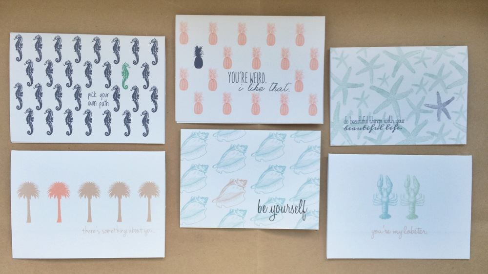 Pick Your OwnPath, You're Weird, Beautiful Life, Something About You, Be Yourself, LobsterNotecards | $1.50