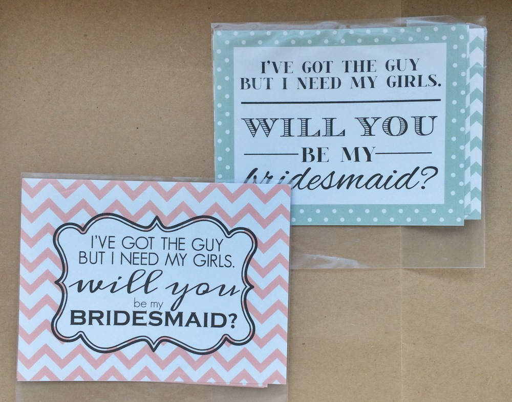 Blush, Mint Bridesmaids 4 Packs (2 Chevron, 2 Polka Dots) | $4
