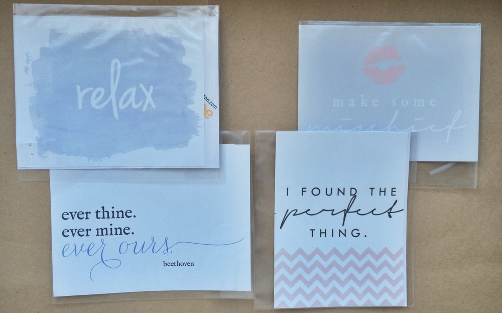Relax/Ever Ours, Mischief/Perfect Things 2 Pack Wine Label Sets | $2