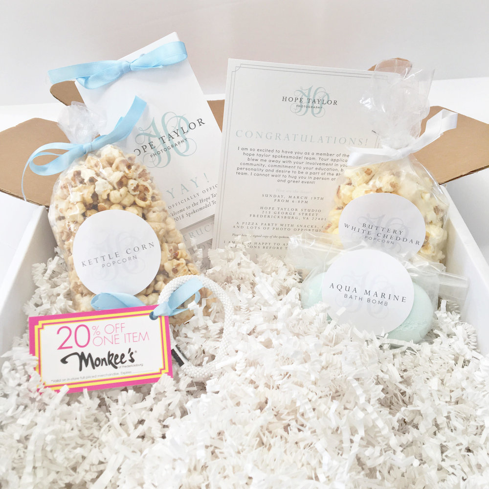 Custom branded box for Hope Taylor Photography  |  Business Brand