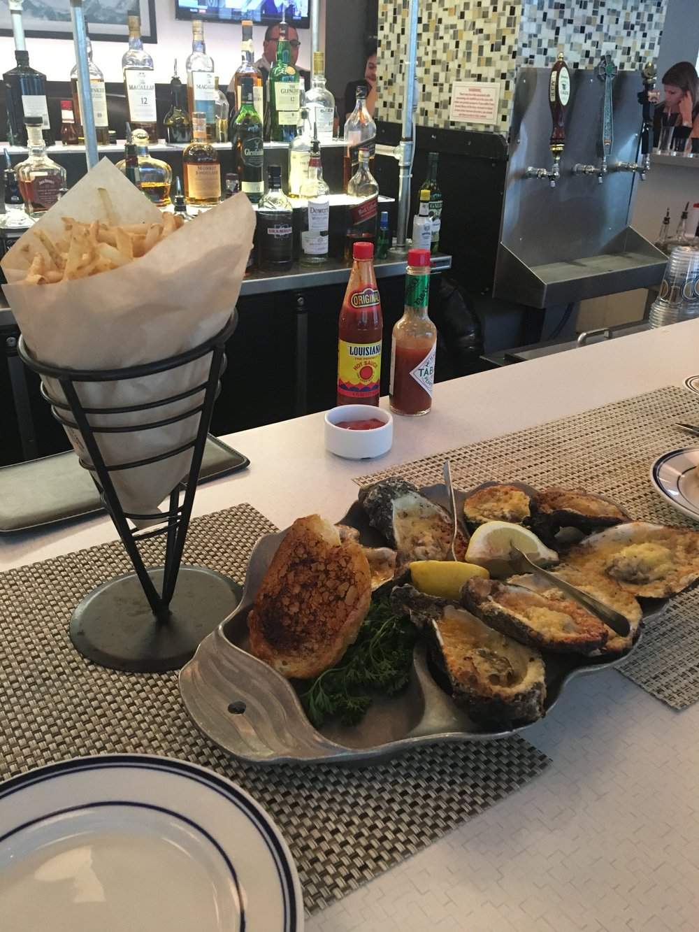 charbroiled oysters at legacy