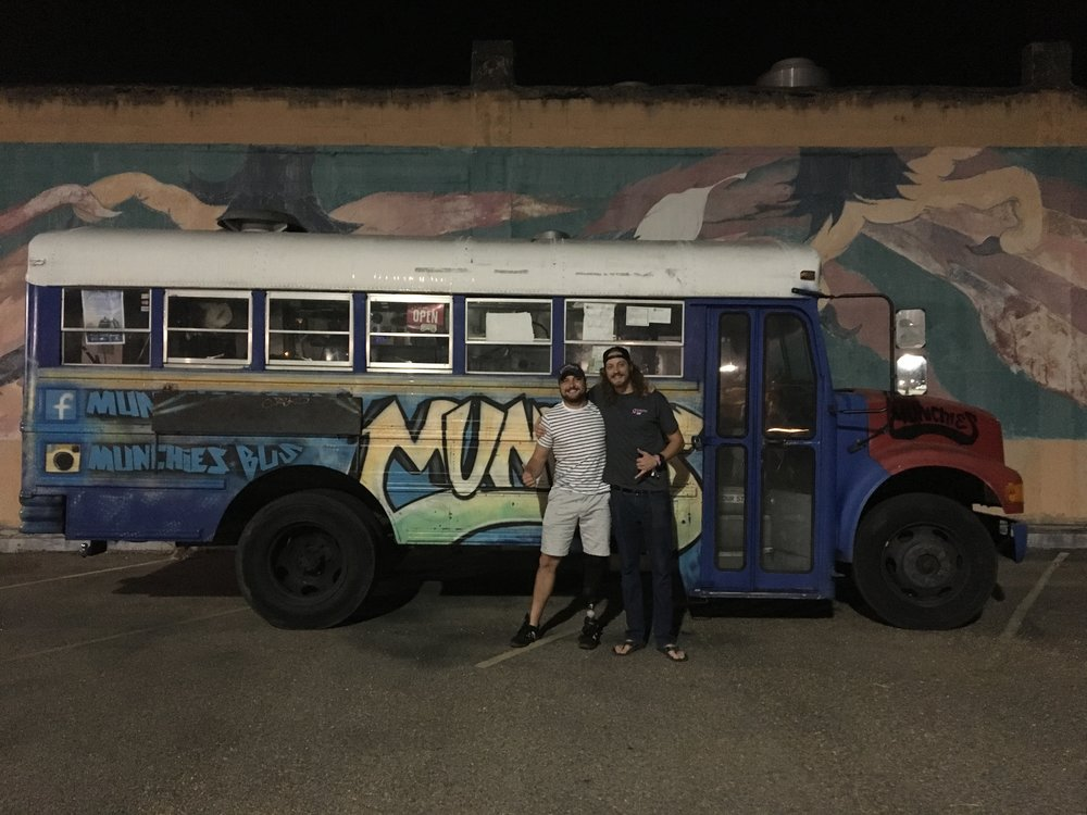 joe & hank at the munchies bus