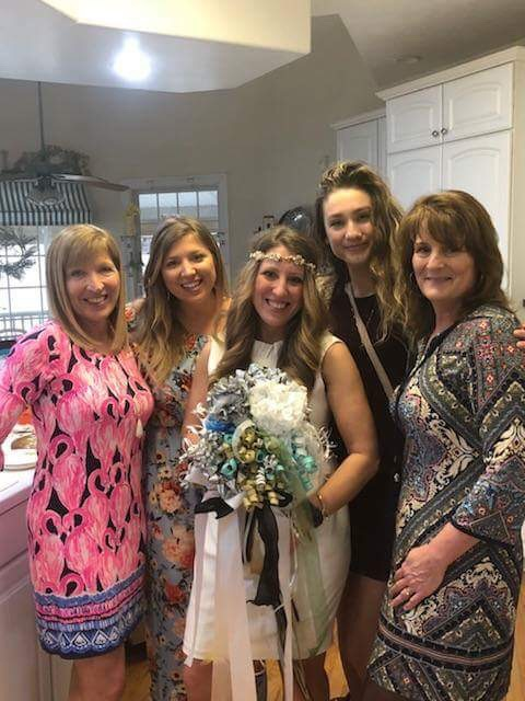 my mom, my sister, me, my future sister-in-law and future mother-in-law