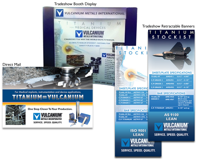 Booth graphics for Vulcanium Metals International