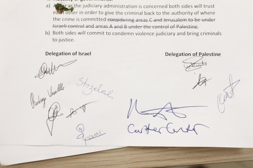 Israeli & Palestinian Representatives