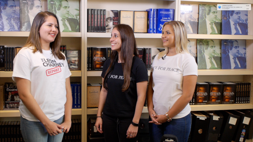 Maria, Alexa and Jessica being interviewed for Leon Charney Reporters at the office of Mr. Charney.Stay tuned to see the interview soon on YouTube.