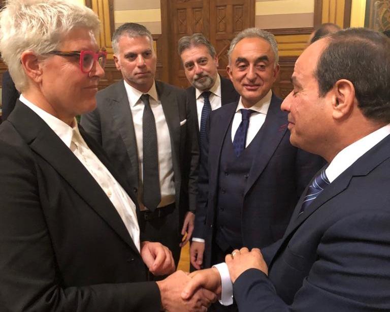 President Abdel Fattah el-Sisi with Tzili Charney