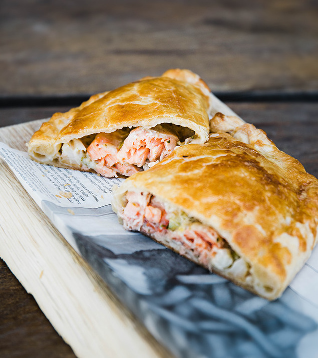 Fish Pie Pasty, anyone? Lunch is served! #fishpie #pasty #CornishPastyWeek #fish #seafood #fishisthedish #dishoftheday #restaurant #cafe #foodie #instayum #instagood #food #yum #nomnomnom #pasty #pie