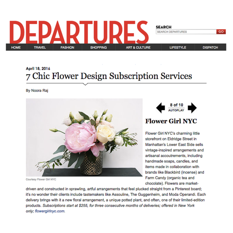 DEPARTURES – APRIL 2016