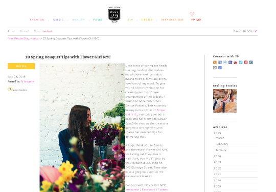 FREE PEOPLE BLOG – MARCH 2015