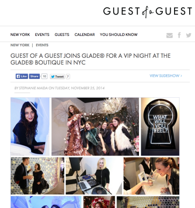 GUEST OF A GUEST – NOVEMBER 2014