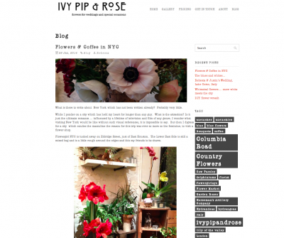 IVY PIP & ROSE - JANUARY 2014