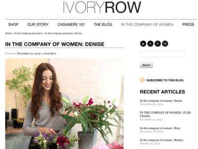 IVORY ROW - NOVEMBER 2013