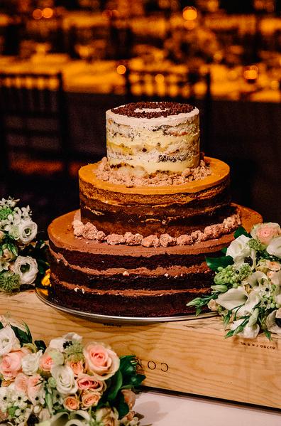 wedding cake florals