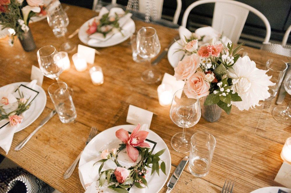 nyc wedding tablescape