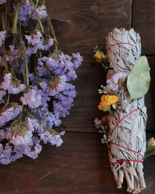 flowers + sage...good for the soul