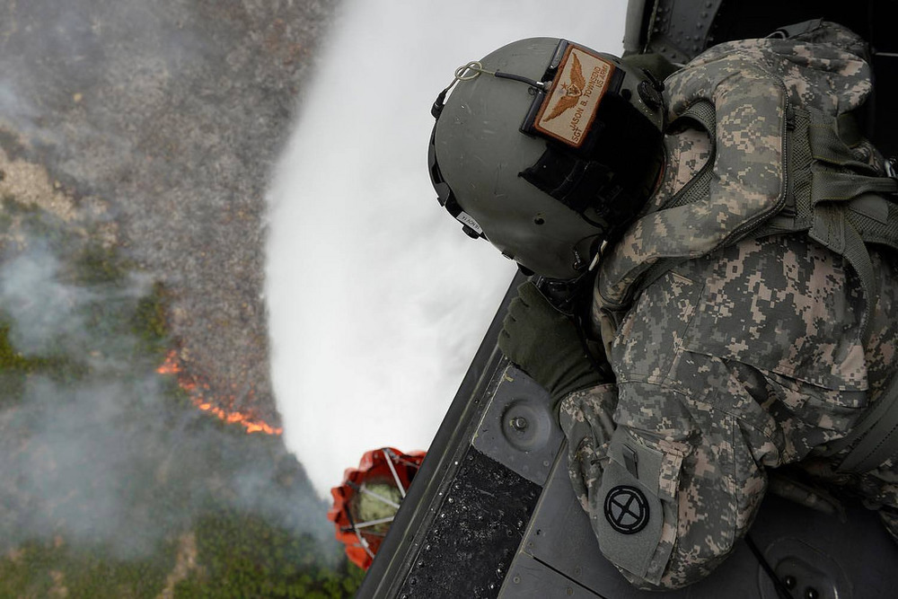 Firefighting in Utah.  Photo: US Army.